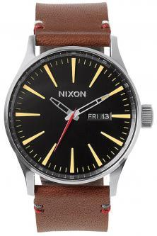 Ceas Nixon Sentry Leather Black Brown A105 019