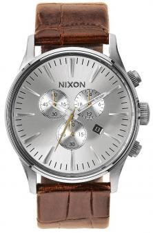 Ceas Nixon Sentry Chrono Leather Saddle Gator A405 1888