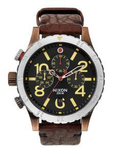 Ceas Nixon 48-20 Chrono Leather Antique Copper A363 1625