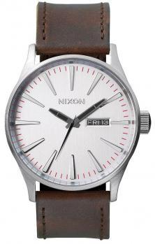 Ceas Nixon Sentry Leather Silver Brown A105 1113