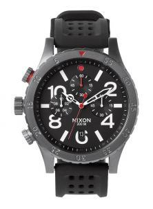 Ceas Nixon 48-20 Chrono P Gunmetal/Black/Red A278 1426