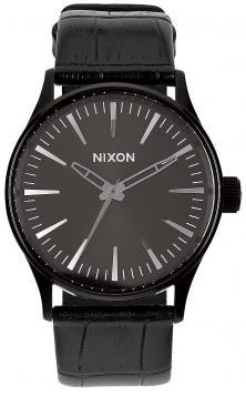 Ceas Nixon Sentry 38 Leather Black Gator A377 1886