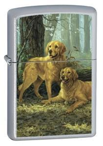 Brichetă Zippo LP - Two Golden Retrievers 20259