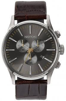 Ceas Nixon Sentry Chrono Leather Brown Gator A405 1887
