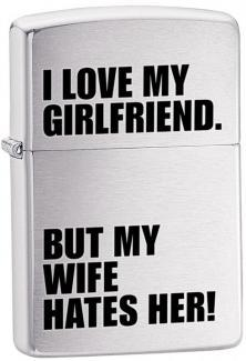 Brichetă Zippo Love My Girlfriend 24522